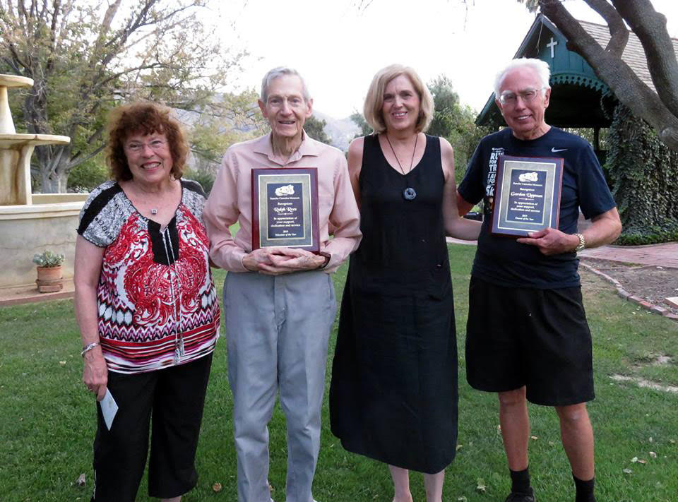 From left: Museum Board Chair Judy Triem, Volunteer Ralph Rees, Museum Director Susan Falck, Docent Gordon Uppman